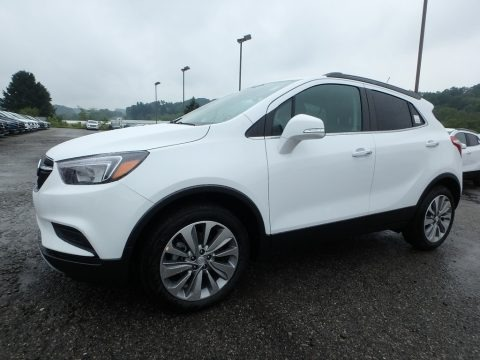 Summit White 2019 Buick Encore Preferred