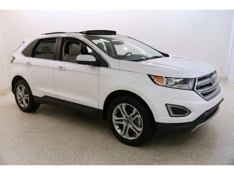 White Platinum Metallic 2017 Ford Edge Titanium AWD