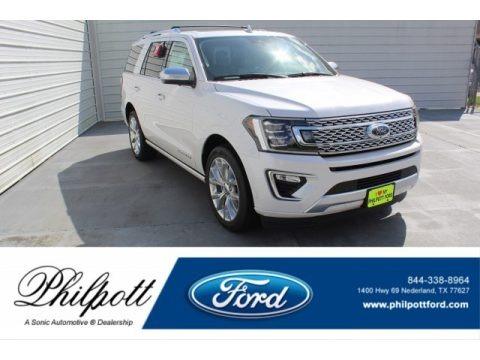 White Platinum Metallic Tri-Coat 2019 Ford Expedition Platinum