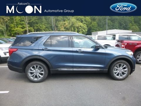 Blue Metallic 2020 Ford Explorer Limited 4WD