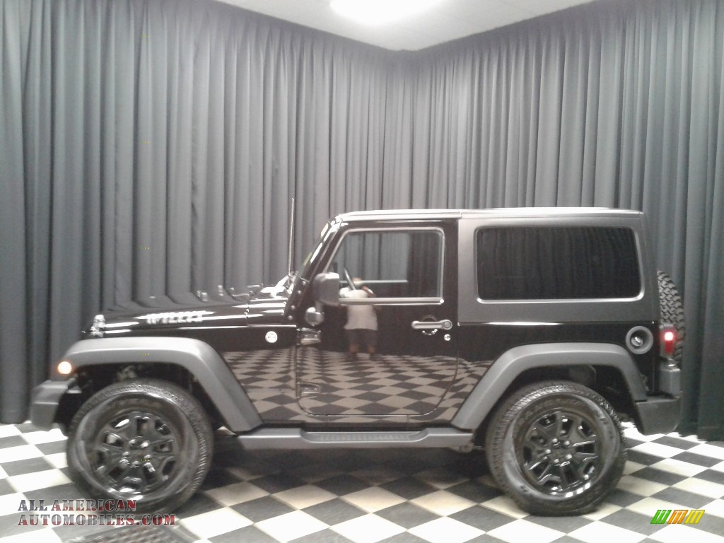 Black / Black Jeep Wrangler Willys Wheeler 4x4
