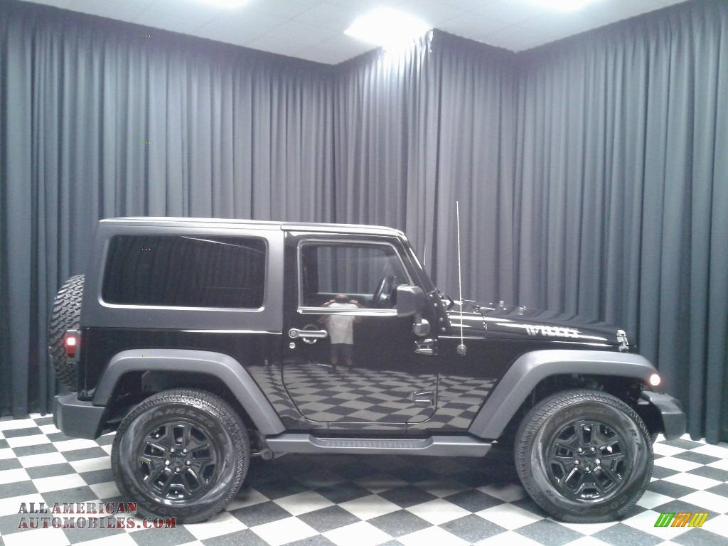 2015 Wrangler Willys Wheeler 4x4 - Black / Black photo #5