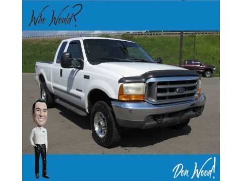 Oxford White 2000 Ford F250 Super Duty XLT Extended Cab 4x4