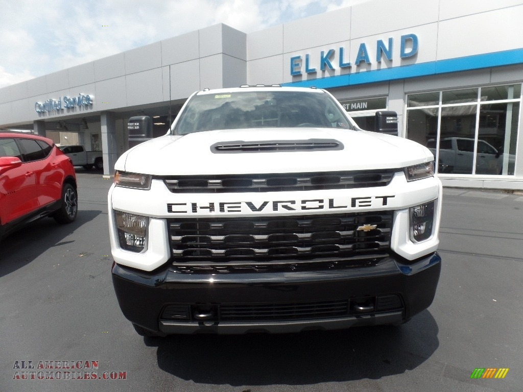 2020 Silverado 2500HD Custom Crew Cab 4x4 - Summit White / Jet Black photo #4