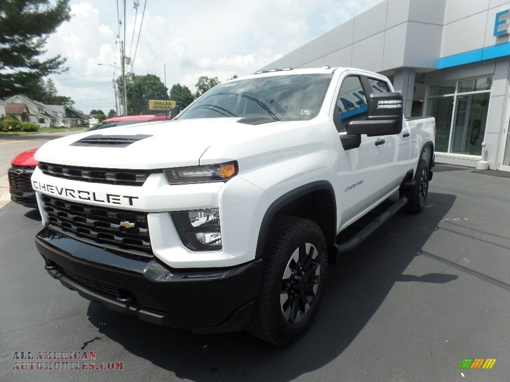 2020 Silverado 2500HD Custom Crew Cab 4x4 - Summit White / Jet Black photo #5