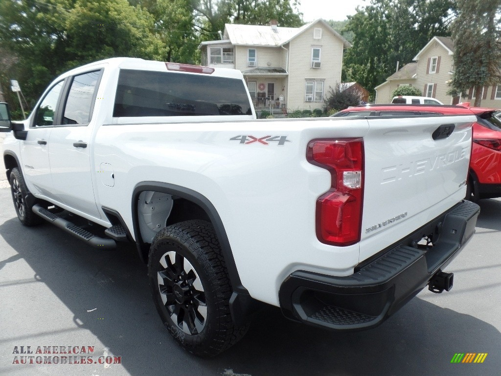 2020 Silverado 2500HD Custom Crew Cab 4x4 - Summit White / Jet Black photo #8