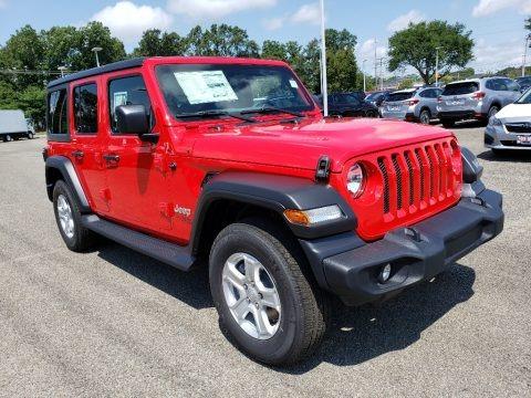 Firecracker Red 2020 Jeep Wrangler Unlimited Sport 4x4