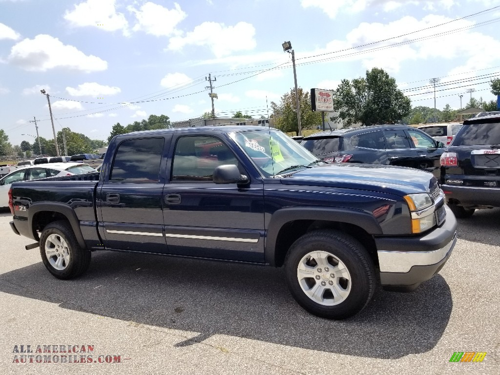 Dark Blue Metallic / Medium Gray Chevrolet Silverado 1500 Z71 Crew Cab 4x4