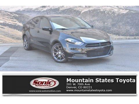 Pitch Black 2016 Dodge Dart SE