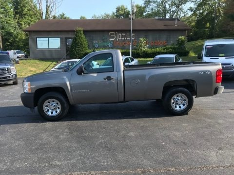Graystone Metallic 2008 Chevrolet Silverado 1500 Work Truck Regular Cab 4x4