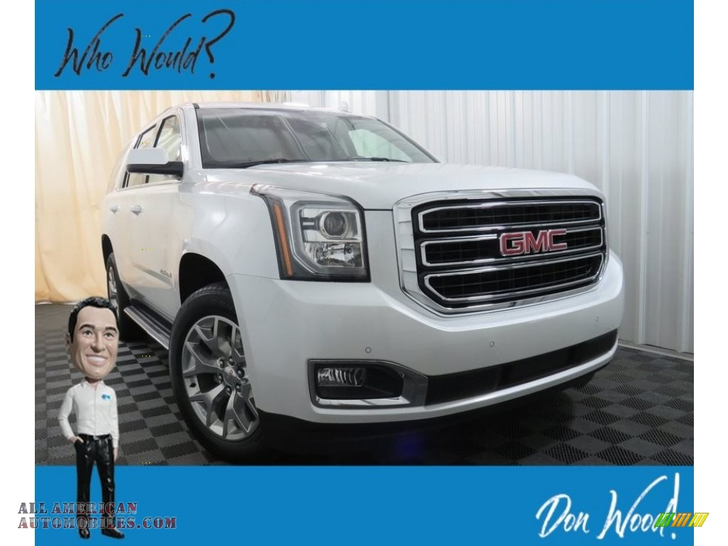 2019 Yukon SLT 4WD - White Frost Tintcoat / Jet Black photo #1