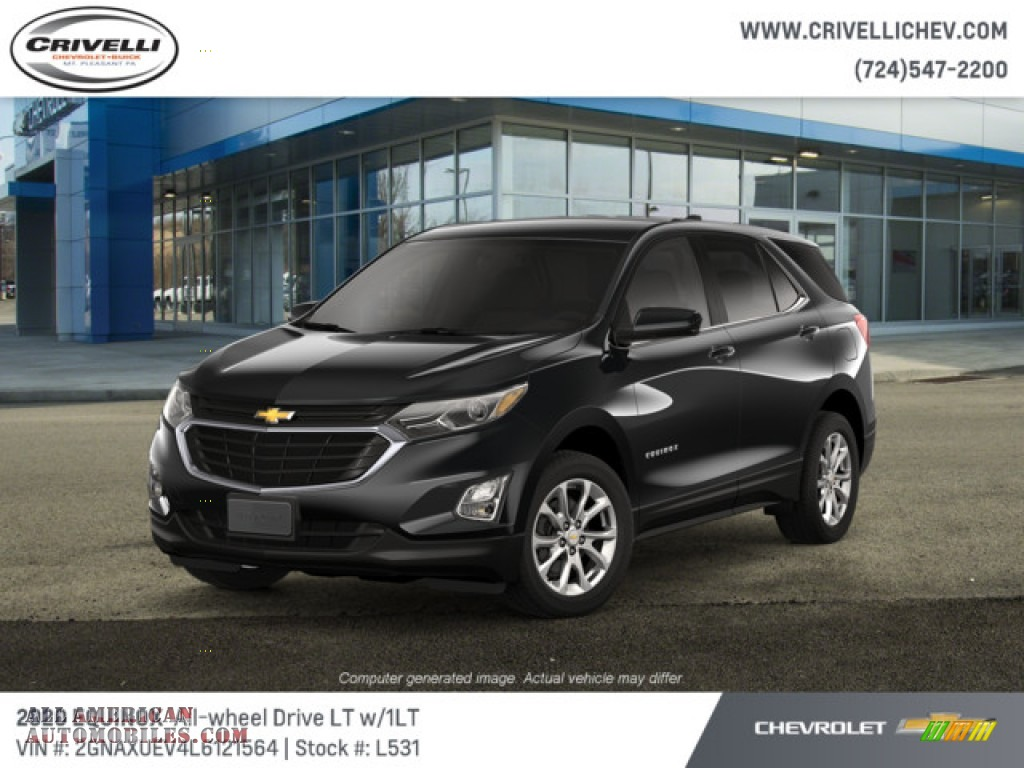 Mosaic Black Metallic / Jet Black Chevrolet Equinox LT AWD