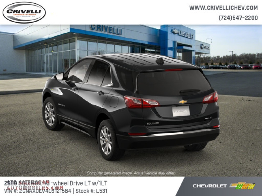 2020 Equinox LT AWD - Mosaic Black Metallic / Jet Black photo #3
