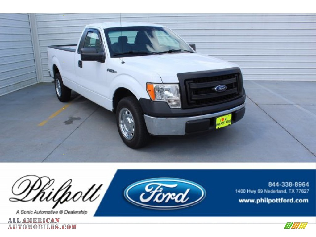 2013 F150 XL Regular Cab - Oxford White / Steel Gray photo #1