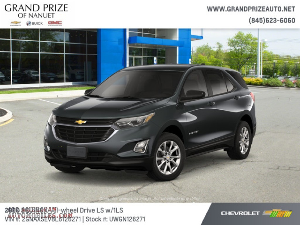 2020 Equinox LS AWD - Nightfall Gray Metallic / Ash Gray photo #1