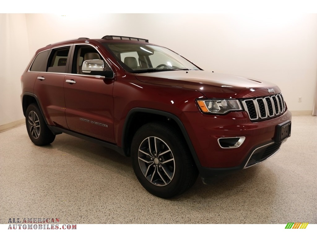 2018 Grand Cherokee Limited 4x4 - Velvet Red Pearl / Black/Light Frost Beige photo #1