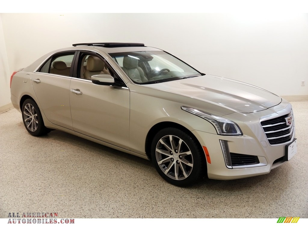2016 CTS 2.0T Luxury AWD Sedan - Silver Coast Metallic / Light Cashmere/Medium Cashmere photo #1