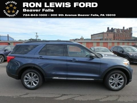 Blue Metallic 2020 Ford Explorer XLT 4WD