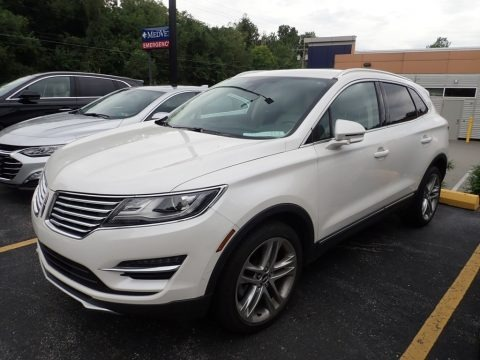 White Platinum 2017 Lincoln MKC Reserve AWD