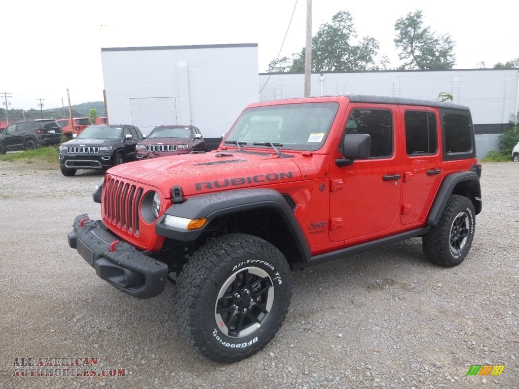 2020 Wrangler Unlimited Rubicon 4x4 - Firecracker Red / Black photo #1