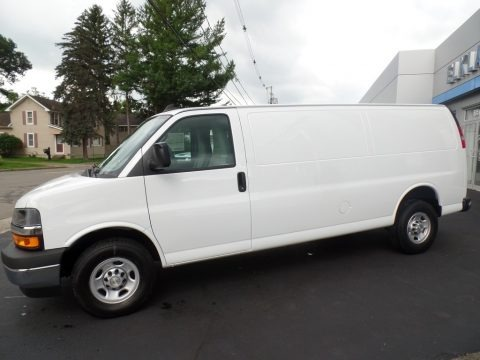 Summit White 2019 Chevrolet Express 2500 Cargo Extended WT