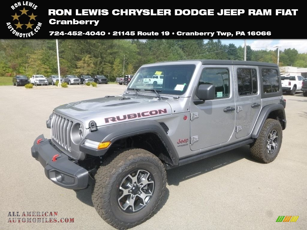2020 Wrangler Unlimited Rubicon 4x4 - Billet Silver Metallic / Black photo #1
