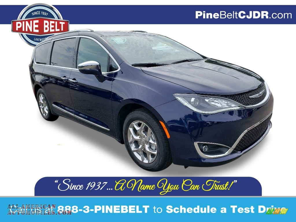 2020 Pacifica Limited - Jazz Blue Pearl / Deep Mocha/Black photo #1