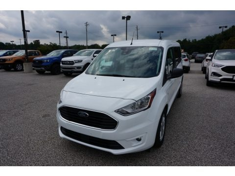 Frozen White 2020 Ford Transit Connect XLT Passenger Wagon