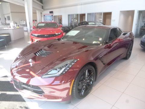 Long Beach Red Tintcoat 2019 Chevrolet Corvette Stingray Coupe