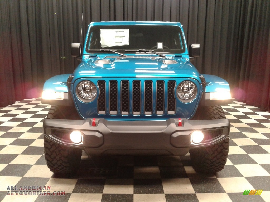 2020 Wrangler Unlimited Rubicon 4x4 - Bikini Pearl / Black photo #3