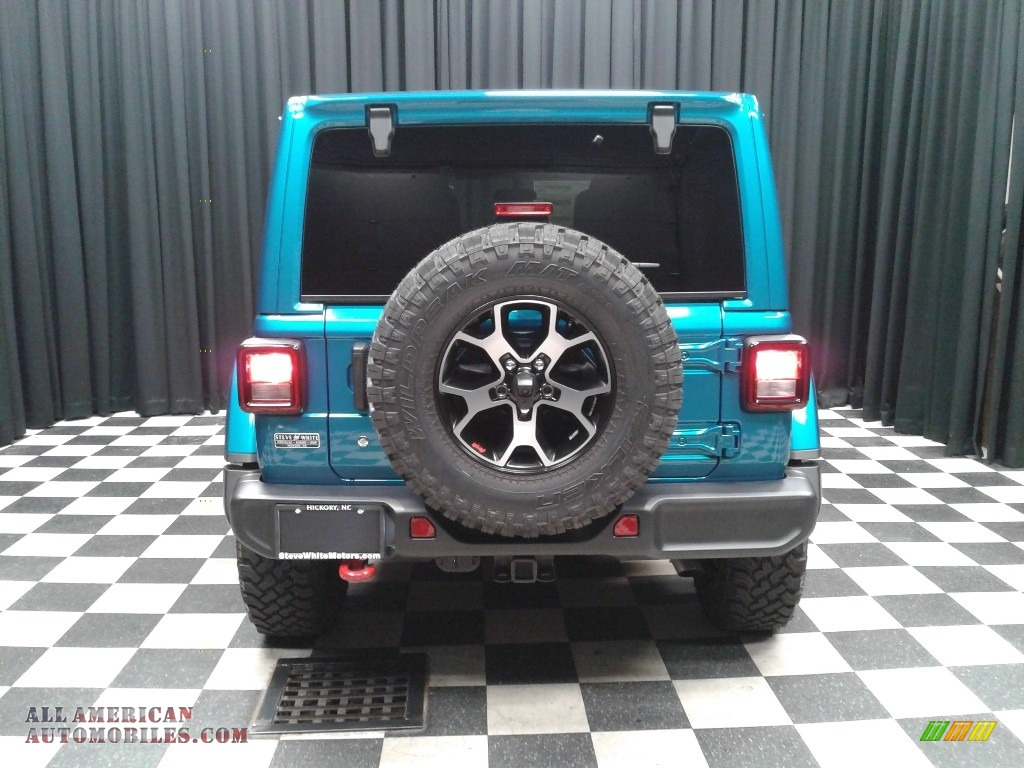 2020 Wrangler Unlimited Rubicon 4x4 - Bikini Pearl / Black photo #7