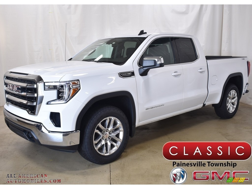 2019 Sierra 1500 SLE Double Cab 4WD - Summit White / Jet Black photo #1