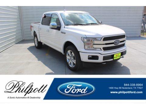 White Platinum 2019 Ford F150 Platinum SuperCrew 4x4
