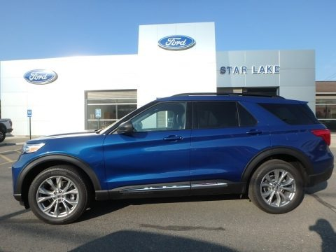 Atlas Blue Metallic 2020 Ford Explorer XLT 4WD