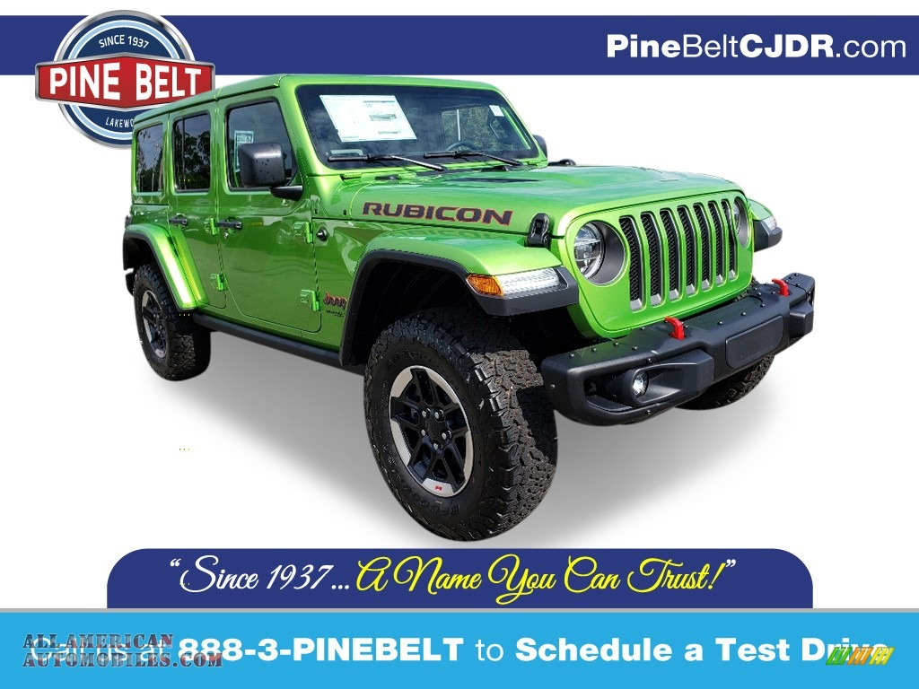 2020 Wrangler Unlimited Rubicon 4x4 - Mojito! / Black photo #1