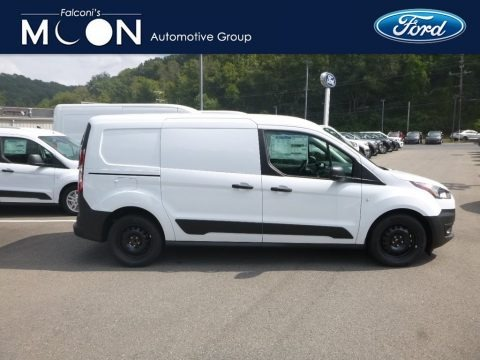 Frozen White 2020 Ford Transit Connect XL Van
