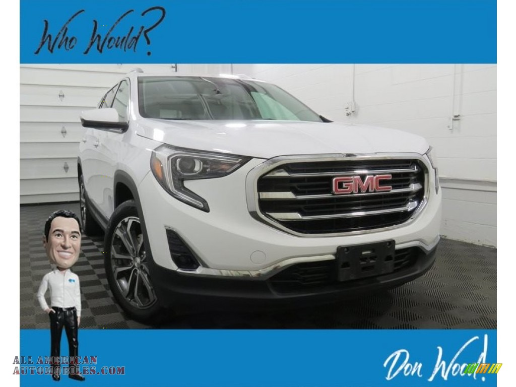 2019 Terrain SLT AWD - Summit White / Medium Ash Gray photo #1