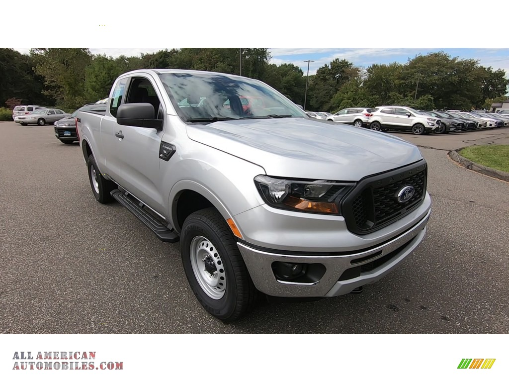 2019 Ranger XL SuperCab 4x4 - Ingot Silver Metallic / Ebony photo #1