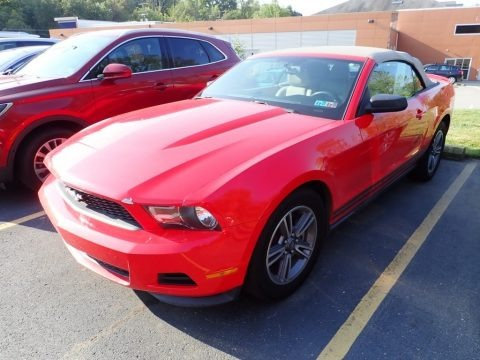 Race Red 2011 Ford Mustang V6 Premium Convertible