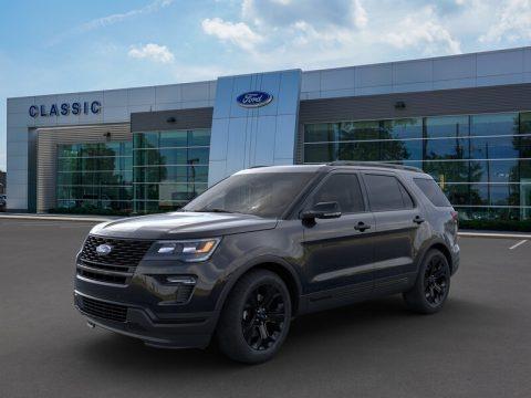 Agate Black 2019 Ford Explorer Sport 4WD