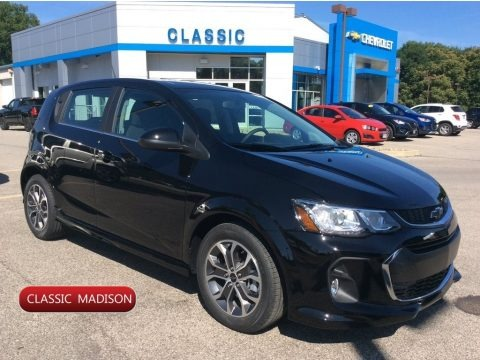 Mosaic Black Metallic 2019 Chevrolet Sonic LT Hatchback