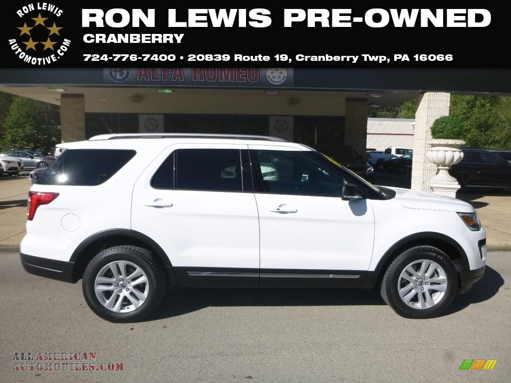 2019 Explorer XLT 4WD - White Platinum / Medium Black photo #1