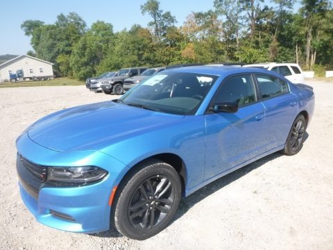 B5 Blue Pearl 2019 Dodge Charger SXT AWD