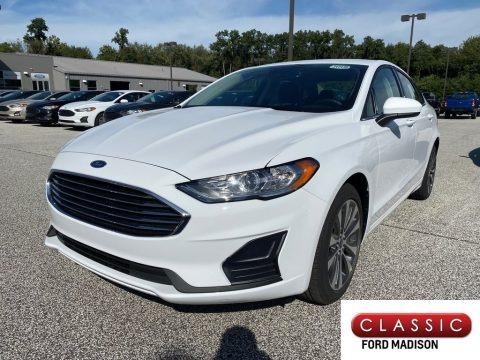 White Platinum 2020 Ford Fusion SE
