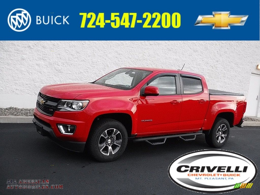 Red Hot / Jet Black Chevrolet Colorado Z71 Crew Cab 4x4