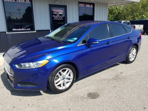 Deep Impact Blue Metallic 2013 Ford Fusion SE