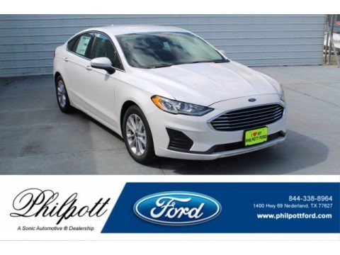 White Platinum 2020 Ford Fusion SE