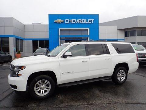 Summit White 2015 Chevrolet Suburban LT 4WD