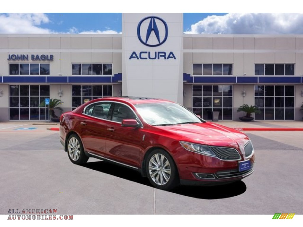 Ruby Red / Charcoal Black Lincoln MKS EcoBoost AWD