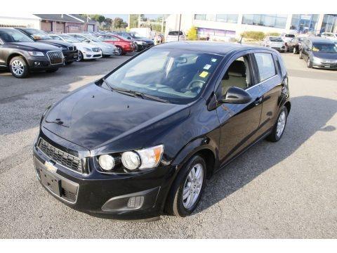 Black 2012 Chevrolet Sonic LT Hatch